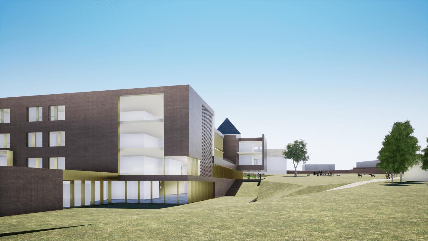 Nieuwbouw woonzorgcentrum Huize Nazareth Goetsenhoven Tienen, Restauratie en renovatie van historische monumenten door a-tract architecture uit Hasselt